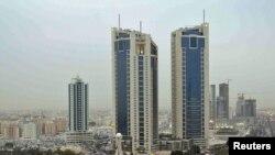 Дэманстранты на галоўнай плошчы сталіцы Бахрэйну ў пятніцу 25 лютага
