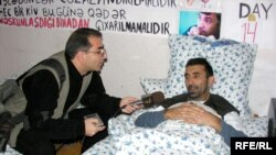 Qənimət Zahidov aclıq aksiyasını davam etdirir, 22 noyabr 2006
