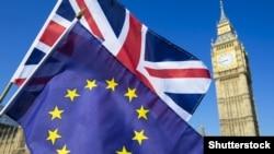 Zastava EU i Velike Britanije, London