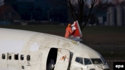 Турецкий «Вoeing 737», потерпевший катастрофу в амстердамском аэропорту