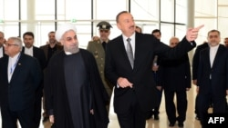 Hassan Rouhani və İlham Əliyev