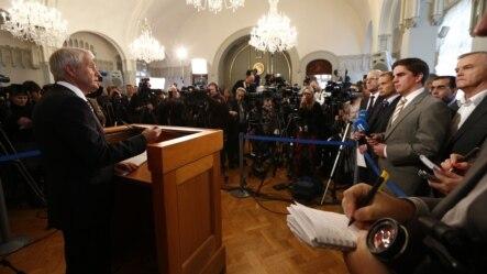 Predsjedavajući Komiteta Thorbjoern Jagland proglašava dobitnika Nagrade za mir za 2012. Oslo, 12.oktobar 2012.