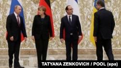Ֆրանսիայի, Գերմանիայի, Ռուսաստանի և Ուկրաինայի ղեկավարների հանդիպումը Մինսկում, 11-ը փետրվարի, 2015թ․