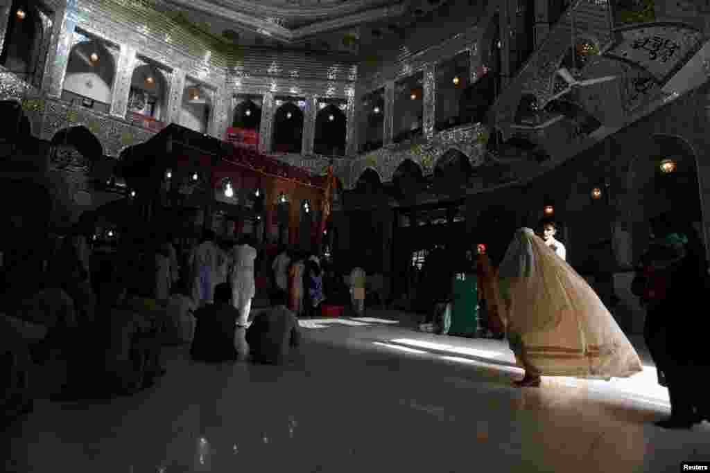 The interior of the shrine in 2013. Sufism has come under increasing attacks in recent years by hard-line Islamists who believe Sufis are heretics.