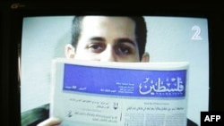 Captured Israeli soldier Gilad Shalit is seen in a video broadcast by an Israeli news channel in October 2009.