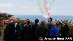 Анґела Меркель та інші учасники саміту G7 у Таорміні (Італія)