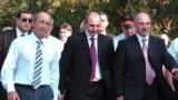Бако Саакян, Аркадий Гукасян и тогдашний президент Армении Роберт Кочарян (фотография 2007 года)