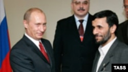 Russia and Prime Minister Vladimir Putin (left) are worried about a nuclear-armed Iran -- but not as much as the West.