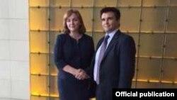 Natalia Gherman şi Pavlo Klimkin