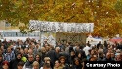 Pamje nga një protestë e mëparshme e serbëve në pjesën veriore të Kosovës
