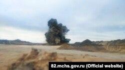 Подрыв бомбы в Керчи