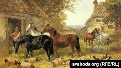 Джон Фрэдэрык Хэрынг (малодшы), «Коні на панадворку».