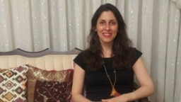 British-Iranian aid worker Nazanin Zaghari-Ratcliffe pictured after her temporary release from Iranian custody.