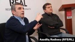 Натиг Джафарли (на переднем плане) и Эркин Гадирли