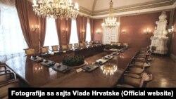 Sala u kojoj se održavaju sjednice Vlade Republike Hrvatske
