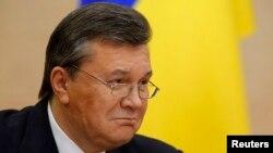 Виктор Янукович, Украинаның қызметінен алынған бұрынғы президенті. Дондағы Ростов, 28 ақпан 2014 жыл
