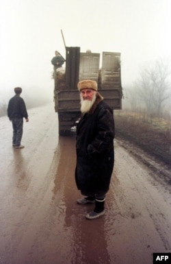 Беженцы в Чечне во время второй кампании