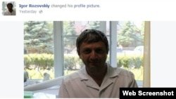 "A screen grab of the Facebook profile picture of ""Igor Rozovskiy,"" who claims to be a 39-year-old doctor from Odesa."