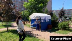 Избирательный участок в Петербурге