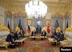 Vladimir Putin i Recep Tayyip Erdogan prilikom sastanka u Istanbulu, 10. oktobra 2016.