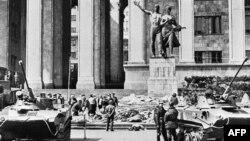 საბჭოთა ტანკები რუსთაველის გამზირზე, 1989 წელი