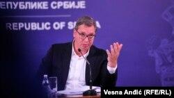 Допис Марії Захарової викликав різку реакцію сербських політиків, включаючи самого Александра Вучича (на фото)