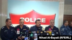 Iraq -- Kirkuk Police department`s press conference, 23Feb2011