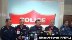 Iraq -- Kirkuk Police department`s press conference, 23Feb2011