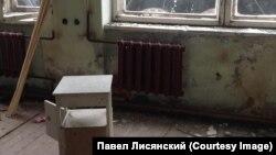 Разбураны шпіталь у Вяглягорску