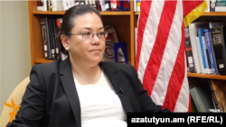 Armenia - Leslie Tsou, a senior advisor on Iran at the U.S. State Department, speaks to RFE/RL in Yerevan, 23Jun2016.