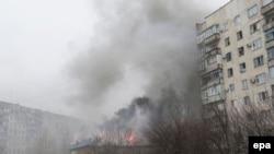 Мариуполь аткыланган учур. 24-январь, 2015-жыл.