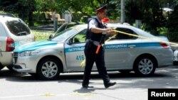 Алматы шаарында коопсуздук чаралары күчөтүлдү. 18-июль, 2016-жыл.