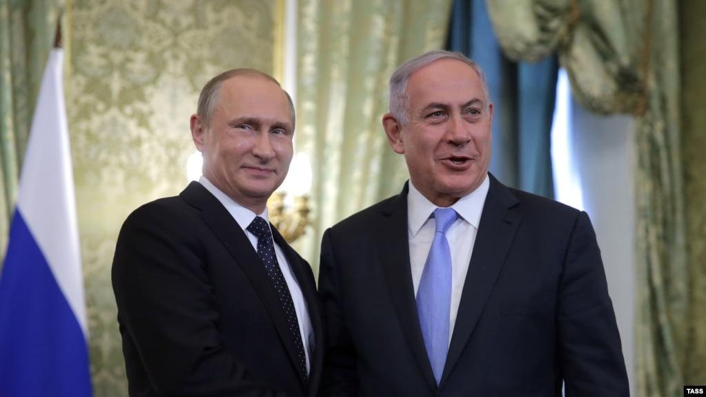 Image result for putin and netanyahu moscow