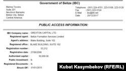 Последняя информация Международного реестра бизнес компаний в Белизе о GREXTON CAPITAL LTD.