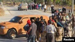 Սիրիա - «Ջաբհաթ ան-Նուսրա» խմբավորման զինյալների հսկիչ անցակետը Արիհայում, մայիս, 2015թ․