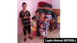 Түркмөн качкындардын балдары. Багдаддын ал-Табизия районундагы мектепте. 27-июль 2014