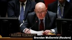 Постоянный представитель России в ООН Василий Небензя на заседании Совета Безопасности.