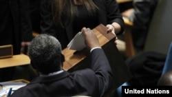 Glasanje za Savjet za ljudska prava UN, foto: UN Photo/Rick Bajornas