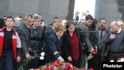 Armenians mark Genocide Rememberence Day in Yerevan.
