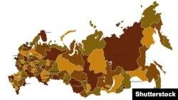(©Shutterstock) Мапа Російської Федерації