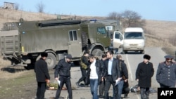 На месте взрыва в селения Сурхахи Назрановского района Ингушетии