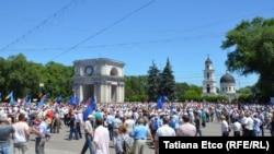Manifestaţia Platformei DA, 7 iunie, Chişinău