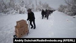 КПВВ «Станица Луганская», январь 2019 года