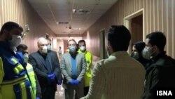 Iranian Health Minister visits quarantine students returning from China. February 6, 2020.