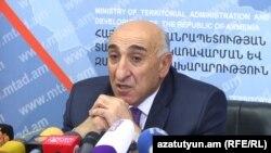 Министр территориального управления Давид Локян, Ереван, 10 октября 2017 г.