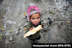 An Afghan child living in a camp for Internally Displaced People (IDPs) in Kabul. (file photo)