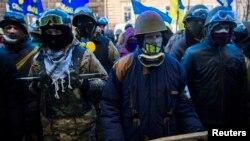 Антиправительственная акция около здания Госавтоинспекции МВД в Киеве (31 января 2014 года)