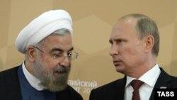 دیدار رئیسان جمهور ایران و روسیه در حاشیه نشت سران خزر