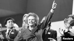 Margaret Thatcher na skupu svoje Konzervativne stranke, 1989.