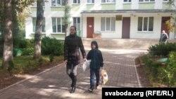 Алена Лазарчык з сынам Арцёмам